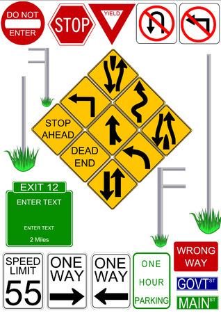 """usunięta: Vector znaków drogowych z ilustracjami wektora wiadomość do """"instalacji"""" im. Tekst można edytować lub usunąć na wszystkich znaków."""