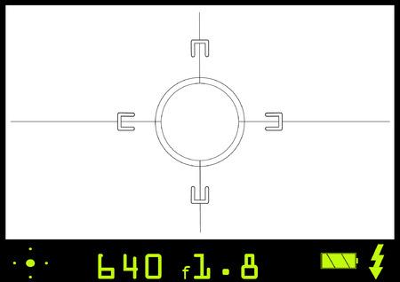 カメラのビューファインダーを介してビュー。このベクター ファイルを実際にスナップ ショットを撮るの外観を与えるために任意の画像を挿入でき