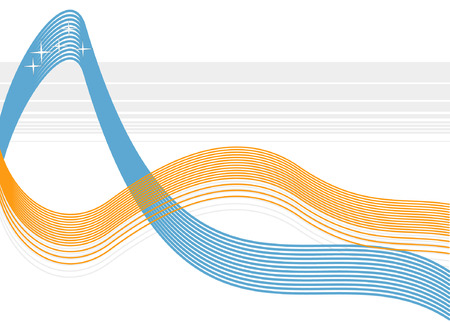 An orange and blue wave vector background, excellent for business logos, power point backgrounds or presentations