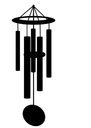 Vector silhouette of a wind chime. file AI8 compatible Illustration