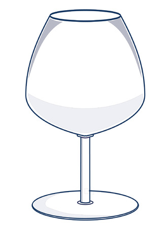 A vector illustration of a wine glass for bordeaux