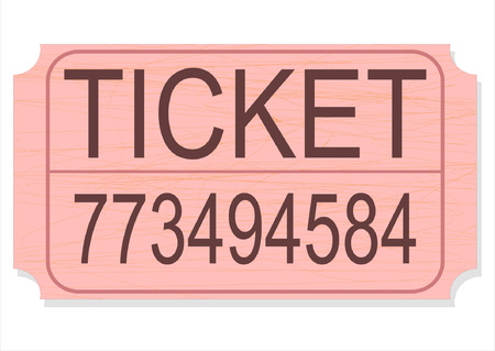 A vector illustration of a raffle, door prize, or contest ticket stub isolated on white background