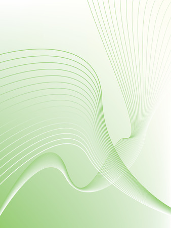 Green wave abstract background illustration