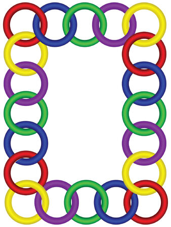 3 つの次元のリング フレーム、8 ベクター ファイル形式に連動  イラスト・ベクター素材