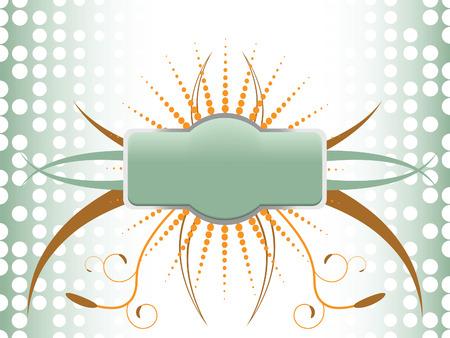 half tone: A floral, flourish and half tone badge background vector illustration. 8 file available Illustration