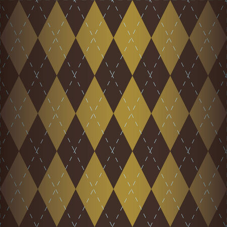 An argyle cloth fabric background with shading. Global Colors used in 8 file.