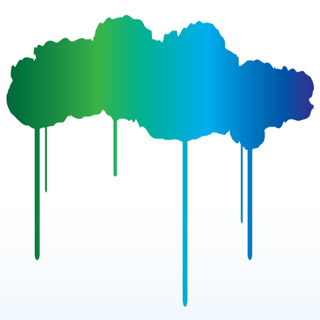 paints: A gradient paint splatter of green to blue. 8 vector file Illustration
