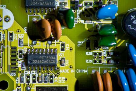 Macro of circuit board Фото со стока