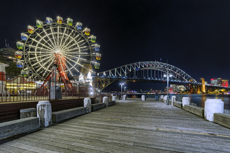 View of Sydney from the Luna Park. Stock Photo