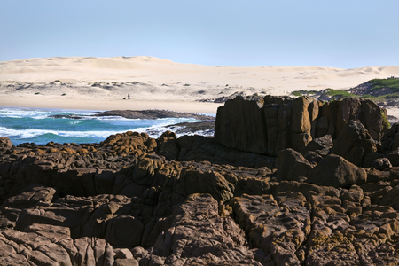 Stockton beach near Anna Bay in New South Wales, Australia.