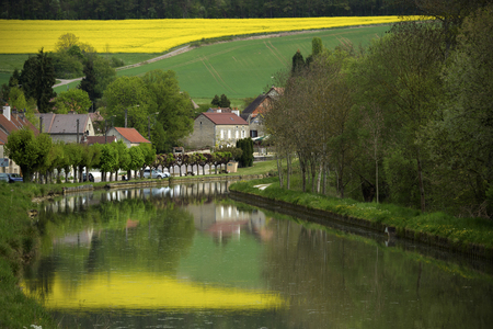 Buffon, a town in Burgundy in France. Stock Photo