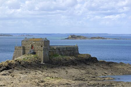 Petit Be Island in Saint Malo, Brittany, France.