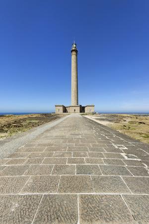 Gatteville lighthouse in Normandy, France.