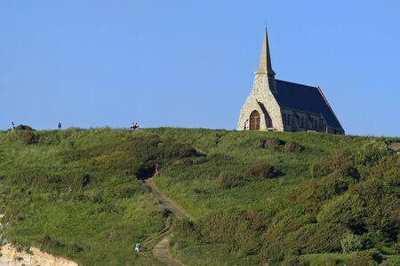 Landscape in Etretat, Normandy, France.
