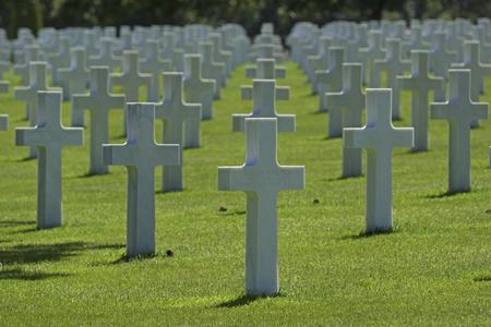 COLLEVILLE SUR MER, FRANCE - JUNE 2014; American cemetery.
