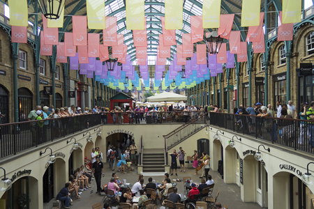 LONDON, ENGLAND - AUGUST 2012; People at Covent Garden during the Olympic Games. Editorial