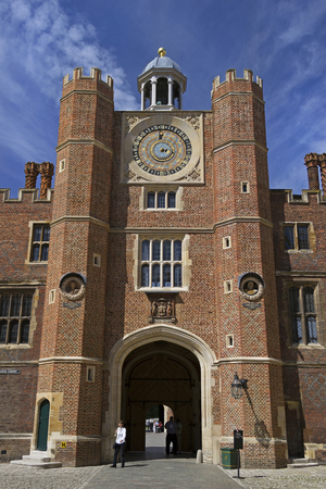 EAST MOLESEY, ENGLAND - AUGUST 2012; Hampton Court Palace.