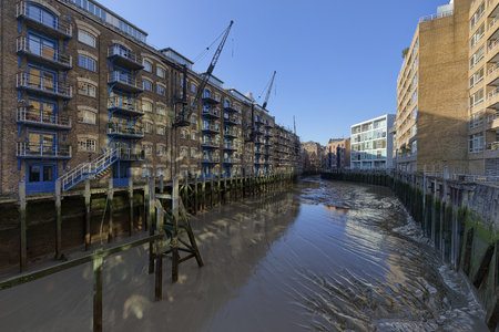 typical: New Concordia Wharf in Southwark, London, England.