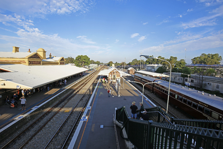MAITLAND, AUSTRALIA - APRIL 2016; Train in Maitland station. Editorial