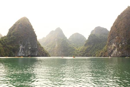 Limestone Karsts Of Lan Ha Bay, Vietnam Stock Photo