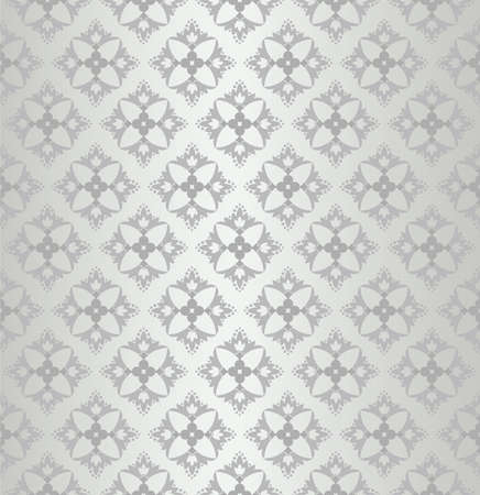 Seamless floral wallpaper diamond pattern Çizim