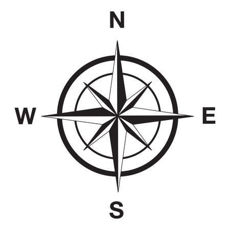 Compass silhouette in black