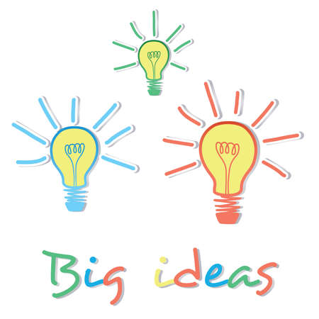 Big Ideas creative light bulb concept