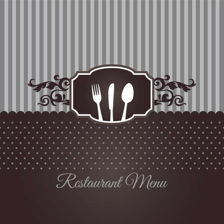 Restaurant menu cover in chocolate brown Illustration
