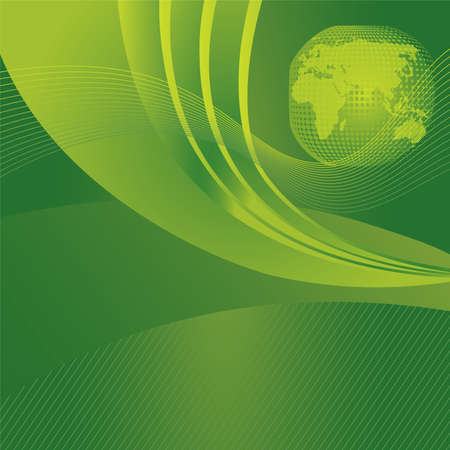 Save the planet concept green background Vector