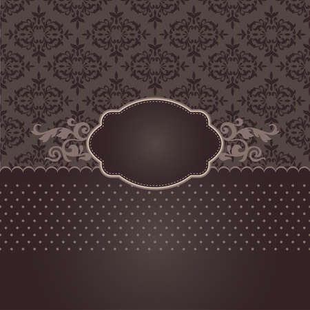 event party: Restaurant or coffee menu in brown