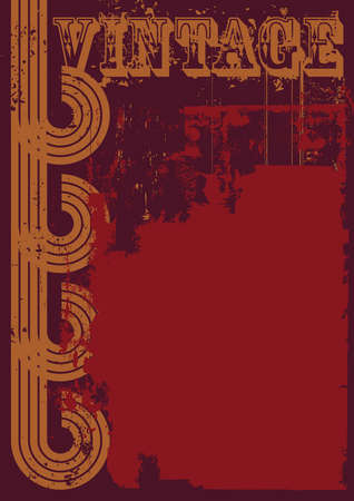 Red and brown grunge vintage background