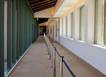 sunlit hallway at Reagan Library Editorial