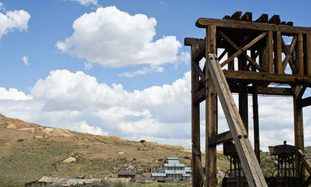 Abandoned gold ore mill in Bodie ghost town