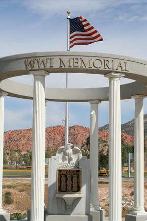 Iron County, Utah WW I war memorial