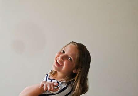 Happy exuberent teenage girl