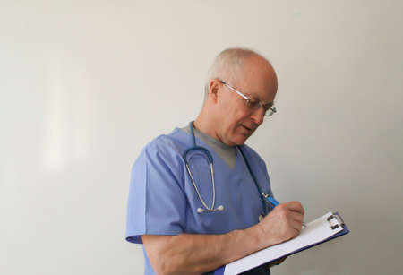 Dr  writing on chart Stock Photo
