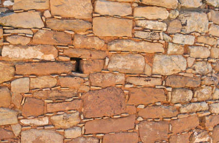Primitive 1300A D  red sandstone wall � texture photo