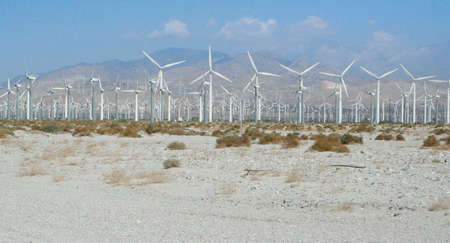 Palm Springs wind-farm general view Stock Photo