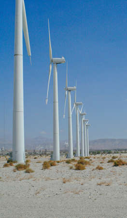 Palm Springs wind farm seven towers photo