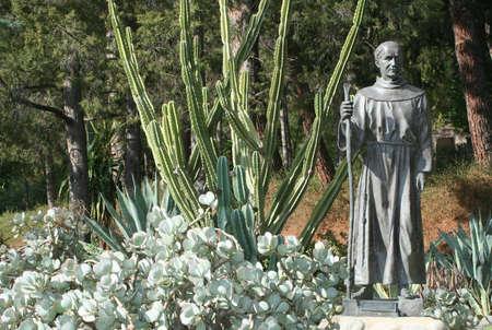 Life sized Father Junipero Serra bronze statue
