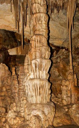 Cave explorers multicolored dream in Lehmans Cave, Nevada
