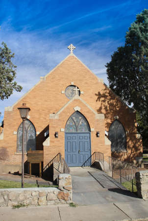 Church from Street Stock Photo