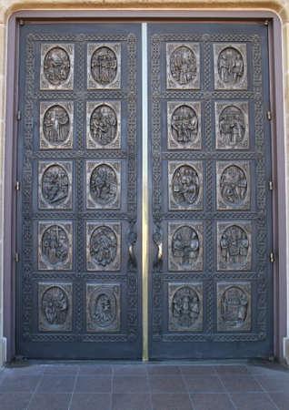 hand carved: Hand Carved Wooden Door