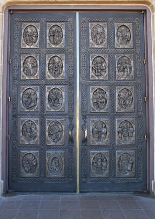 Hand Carved Wooden Door