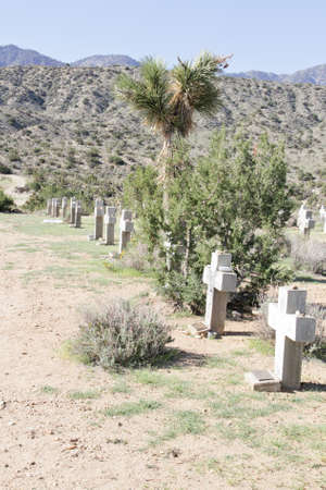 Desert Cemetery Stock Photo