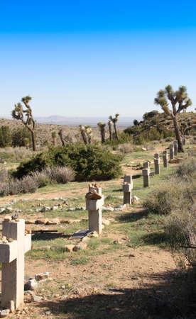 gravesite: Desert Cemetery Stock Photo