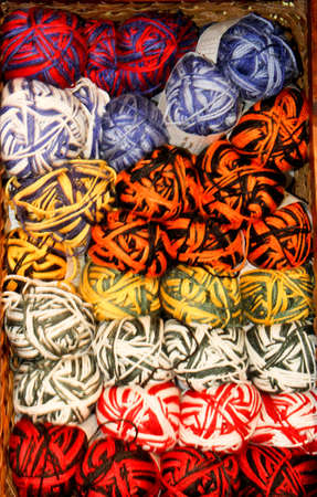 bright colored variegated yarn skeins - use as background