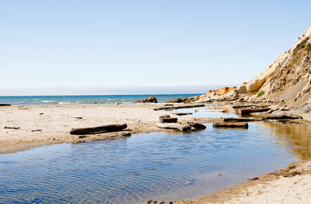 blue fresh water Russian river meeting green california coastal water