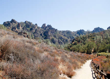 deserted trail to condor rocks in Pinnacles National Park