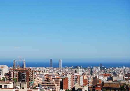 A panoramic view of Barcelona photo